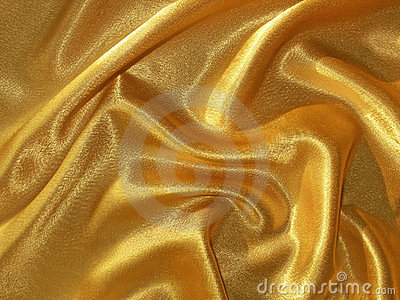 Draped golden (orange) satin background