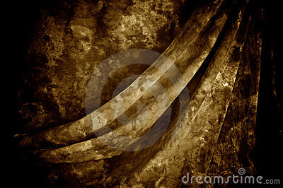 Draped mottled sepia background