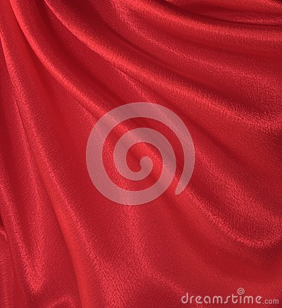 Draped red silk background