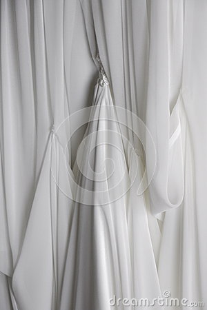 Draped White Fabric Background