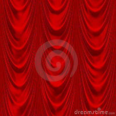 Draperie rouge