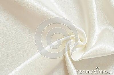 White satin drapery