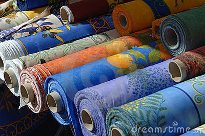 Drapery on a french market