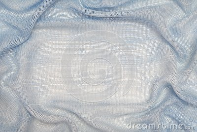 It is  drapery of light blue fabric.