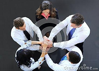 Draufsicht von Geschäftsleuten