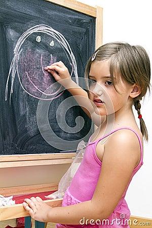 Draw on blackboard