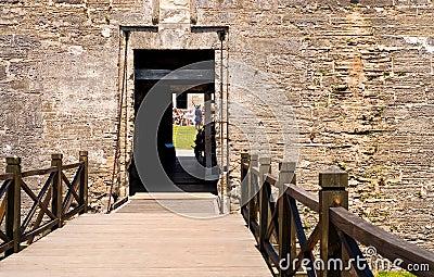 Draw bridge to fort entrance