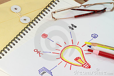 Draw of a light bulb