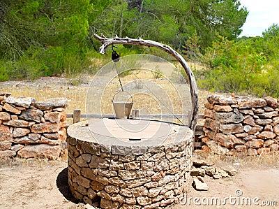 Draw well traditional mediterranean masonry