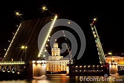 Drawbridge in Saint Petersburg