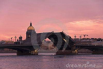 Drawbridge in St Petersburg