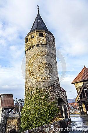 Free Drawbridge Tower Near The Castle Bad Homburg Royalty Free Stock Photo - 48147785
