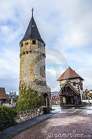 Free Drawbridge Tower Near The Castle Bad Homburg Royalty Free Stock Photography - 48147877