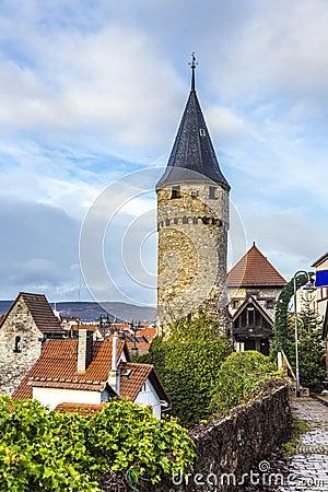 Free Drawbridge Tower Near The Castle Bad Homburg Stock Images - 48147964