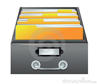 drawer with folders for files