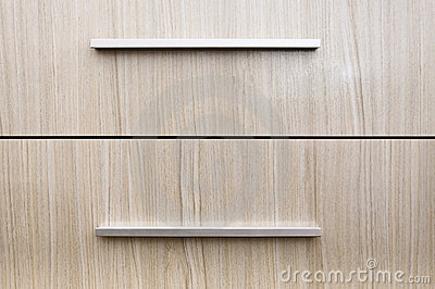 Drawer furniture levers close-up