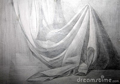 Drawing academic aFabric a drapery