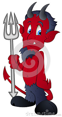 Cartoon Devil - Vector Illustration