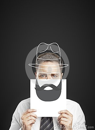 Drawing beard and hat