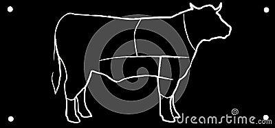 Drawing black bull