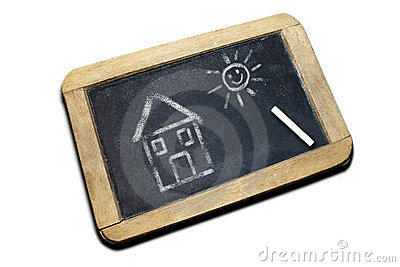 Drawing on a blackboard