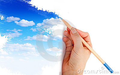 Drawing a blue sky