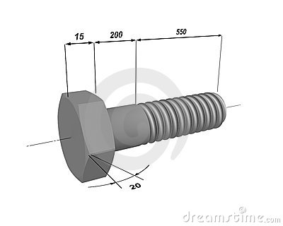 The drawing of a bolt
