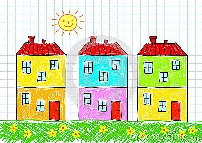 Drawing of buildings