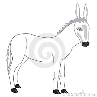 Drawing of the burro