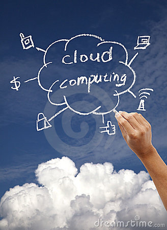Drawing cloud computing concept