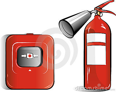 Drawing of the co2 fire extinguisher