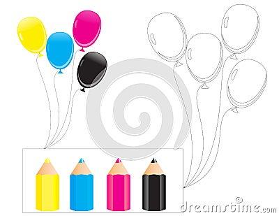 b for balloon