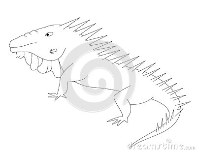 I for iguana royalty free stock images image 30038339 for Green iguana coloring page