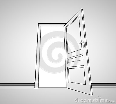 Drawing door