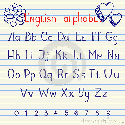 Drawing english alphabet