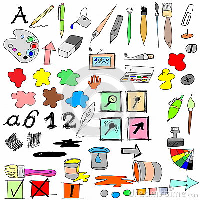 drawing equipment and Icons