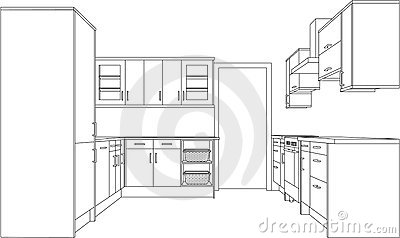 drawing-fitted-kitchen-