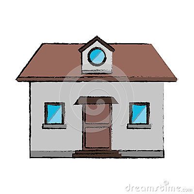 Free Drawing Front View Home Window Loft Stock Photography - 82344782