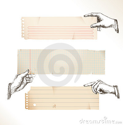 Free Drawing Hands With Torn Paper Royalty Free Stock Images - 18009139