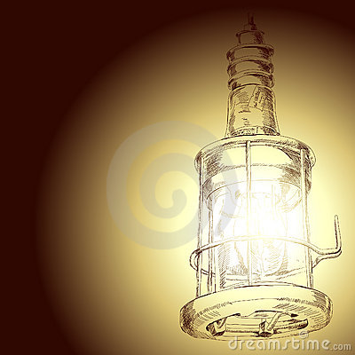 Drawing of lamp