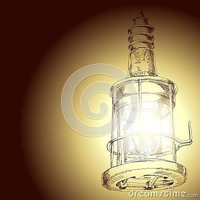 Drawing of lamp