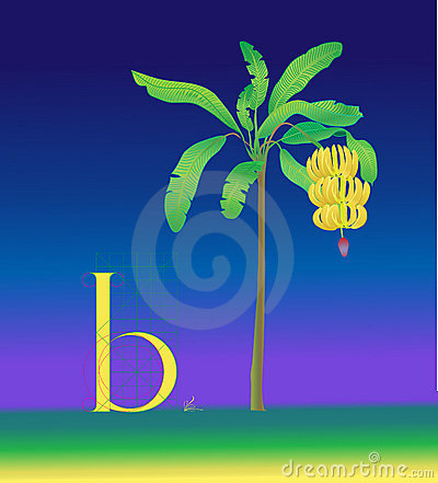 Drawing letter b