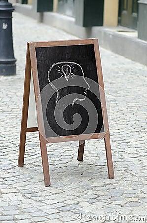 Free Drawing On A Street Restaurant Menu Blackboard Stock Photography - 38709642