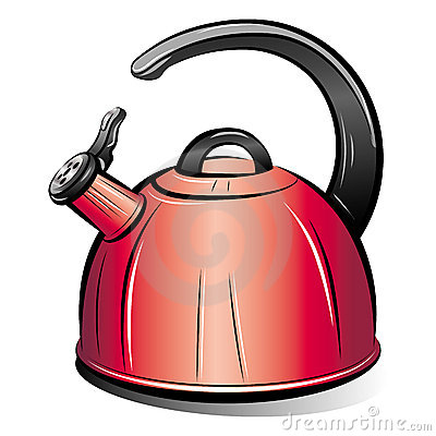 Drawing of the red teapot kettle