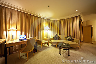 Drawing room of hotel