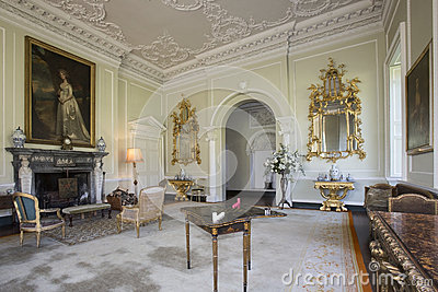 Drawing Room - Manor House - Yorkshire - England Editorial Photo