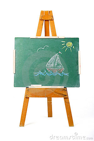 Drawing Of A Sailing Boat Stock Photos - Image: 1899423
