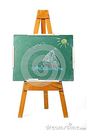 Drawing of a sailing boat