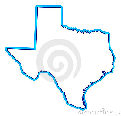 Drawing of state of Texas