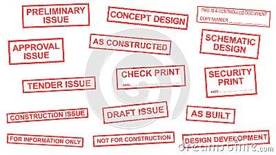 Drawing Status Stamps Stock Illustration Image 50673813